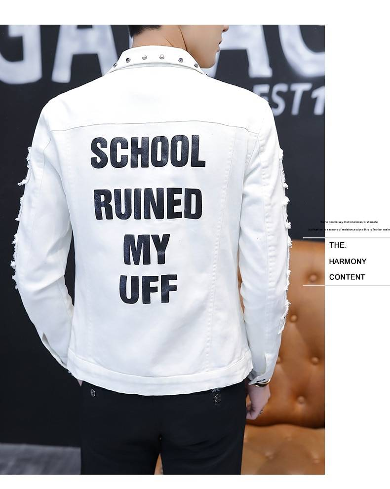 Spring And Autumn Jeans Coat Men's Korean-style Fashion Students Handsome Versatile Jacket MEN'S Wear Summer New Style Cowb