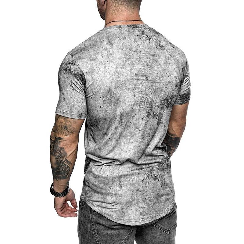 Foreign trade new fashion men's T-shirt men's casual top 3DT-Shirts summer O-neck shirt plus size streetwear