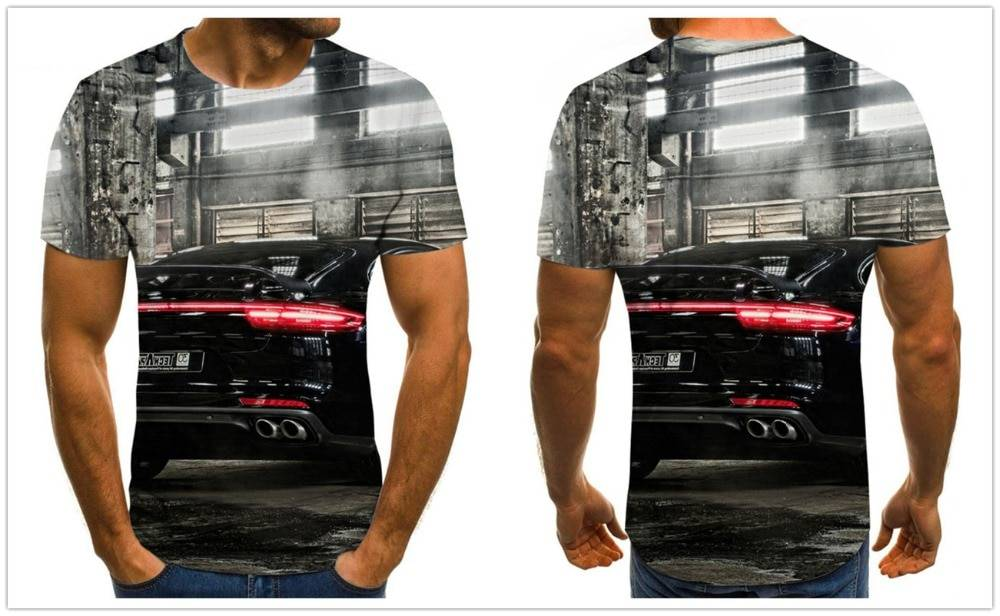Futuristic men's T-shirt mecha graphic T-shirt fashion Harajuku tops summer casual short-sleeved street crew neck boys clothing