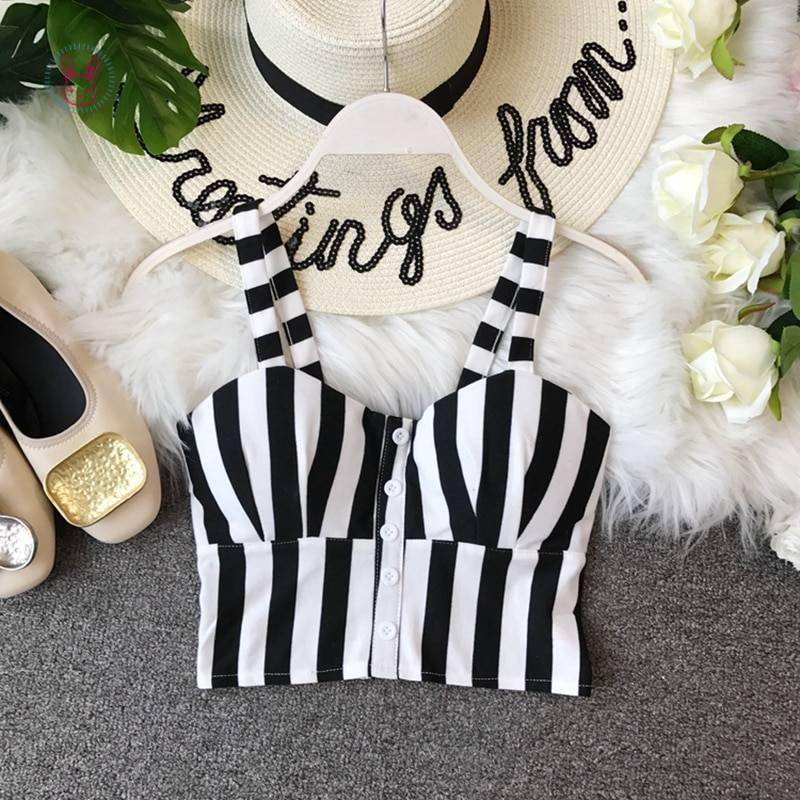 Striped Crop Top for Girls